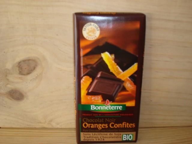 CHOCOLAT NOIR ORANGES CONFITES