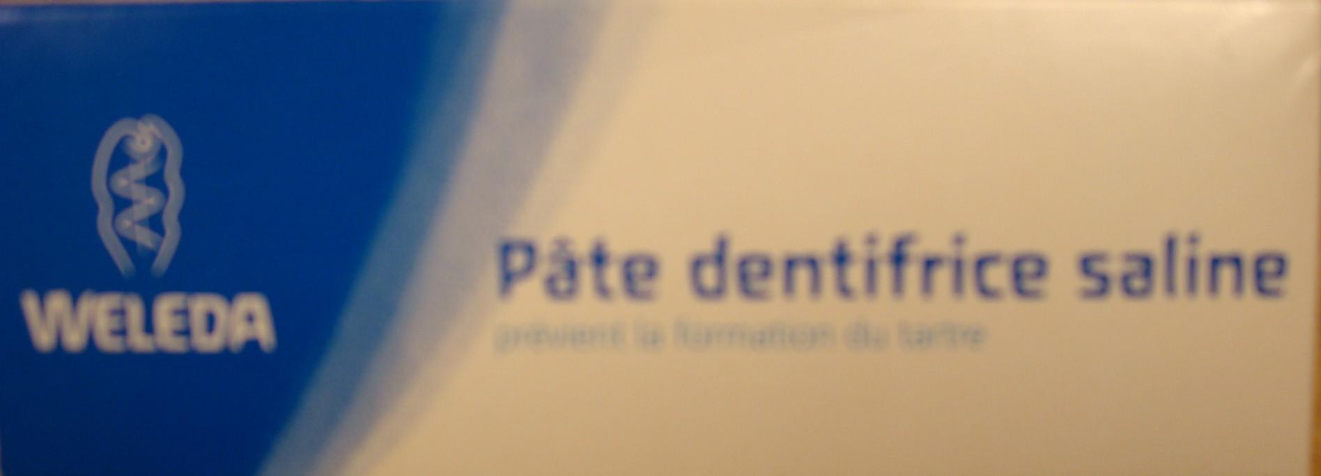 Pâte Dentifrice Saline WELEDA