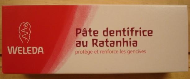 Pâte Dentifrice au Rathania WELEDA