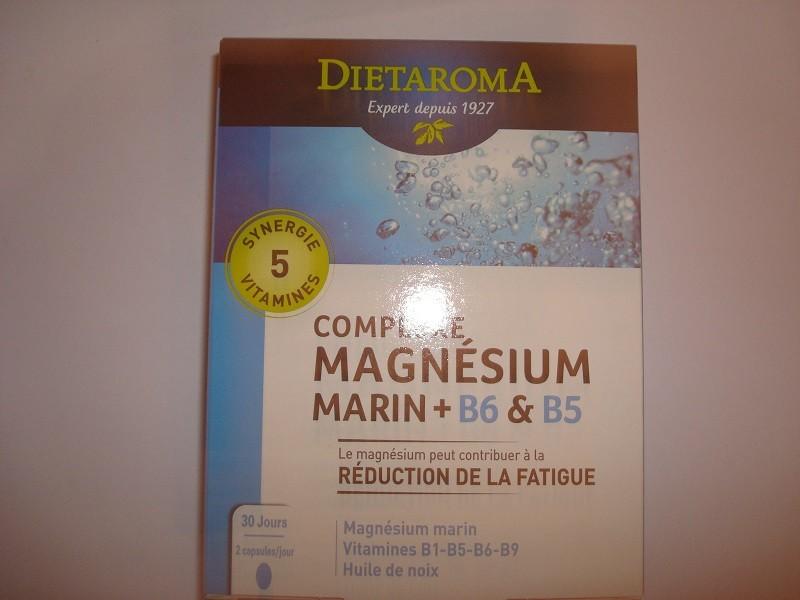 MAGNESIUM COMPLEXE MARIN + VITAMINE B6 & B5  60 CAPS. LAB. DIETAROMA