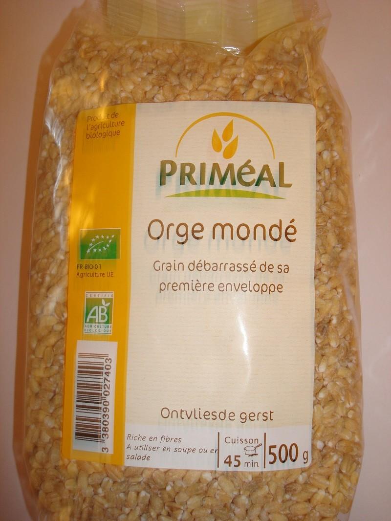 ORGE MONDE BIO PRIMEAL 500 GRS