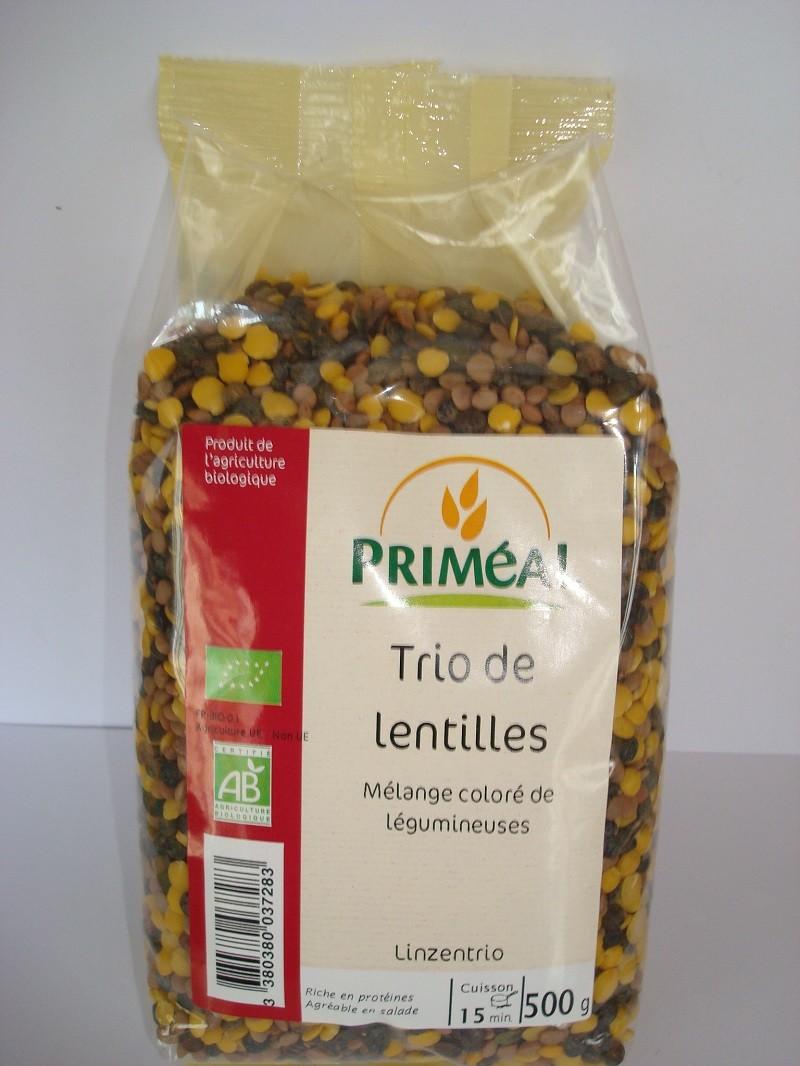 TRIO DE LENTILLES BIO
